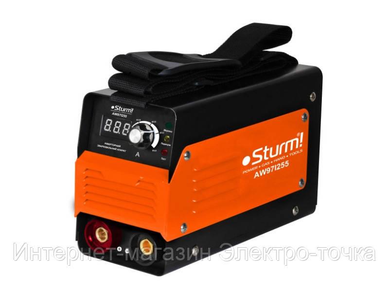 Сварочный инвертор 255А Sturm AW97I255D кнопка