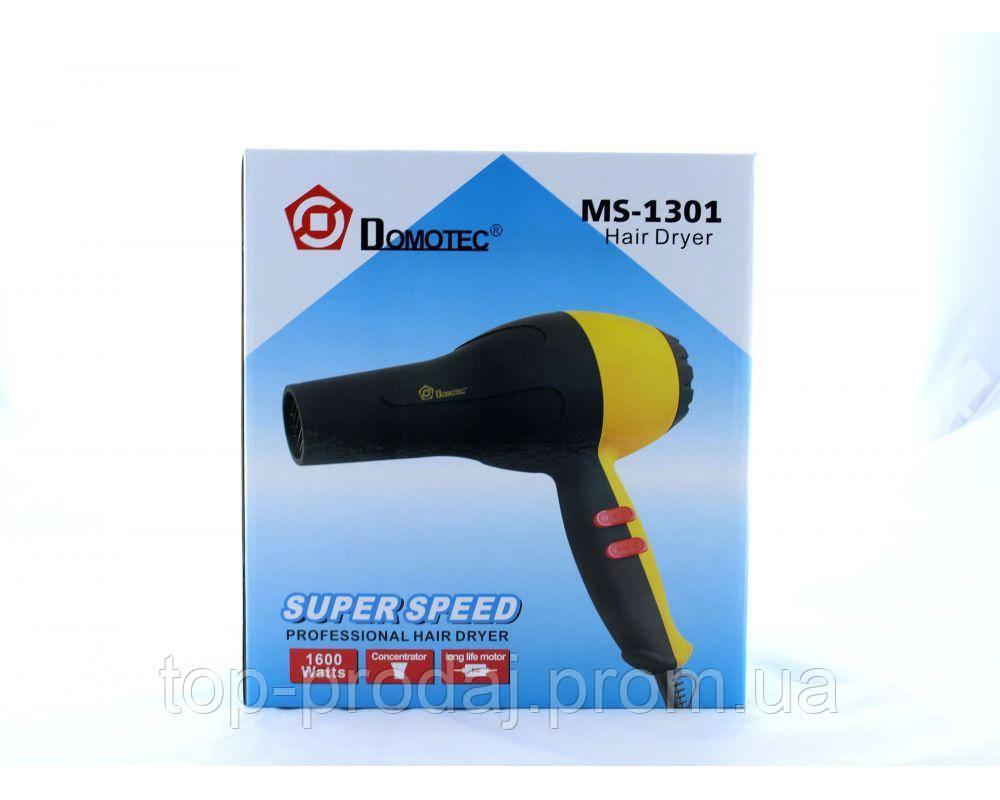 Фен для сушки волос MS 1301 (1600W), Фен для волос Domoteс, Фен для укладки, Профессиональный фен