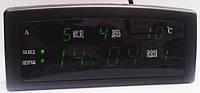 Часы CX 909 green, Электронные настольные часы, Многофункциональные электронные часы, Будильник настоль