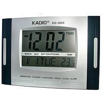 Часы KK 3809 N, Часы цифровые, Многофункциональные часы для авто и дома, Электронные часы, Настольные часы