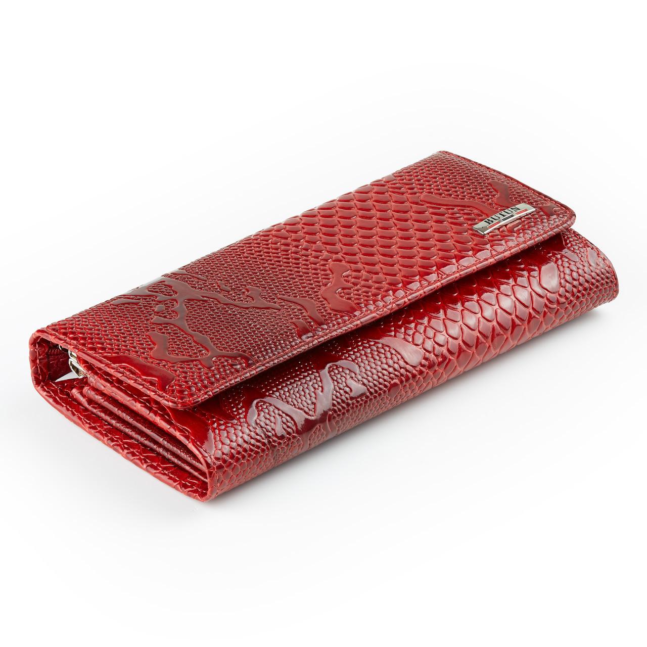 Женский кошелек Butun 559-008-006 кожаный красный