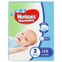 Подгузники Huggies Ultra Comfort для мальчиков 3 (5-9 кг) Mega Pack 188 шт.