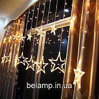 """Новогодняя гирлянда штора на окно  """"12 звезд"""", фото 1"""