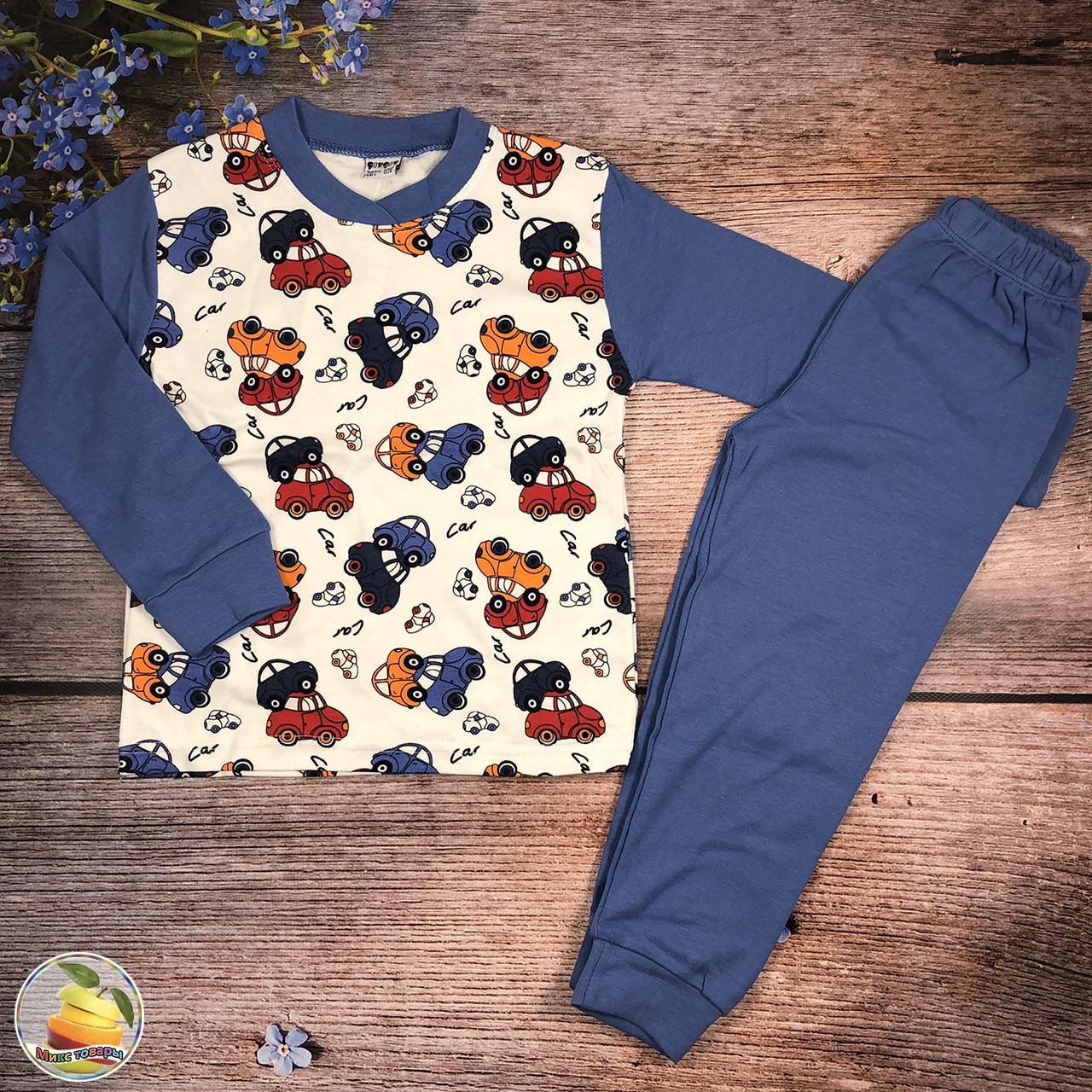 Пижама с машинками для мальчика Рост: 110,116,122,128 см (9097)