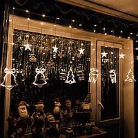 Новогодняя гирлянда шторана окно «Сказка», фото 1
