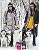 Женское двухстороннее плащевое Женские пальто с капюшоном 71mpa210