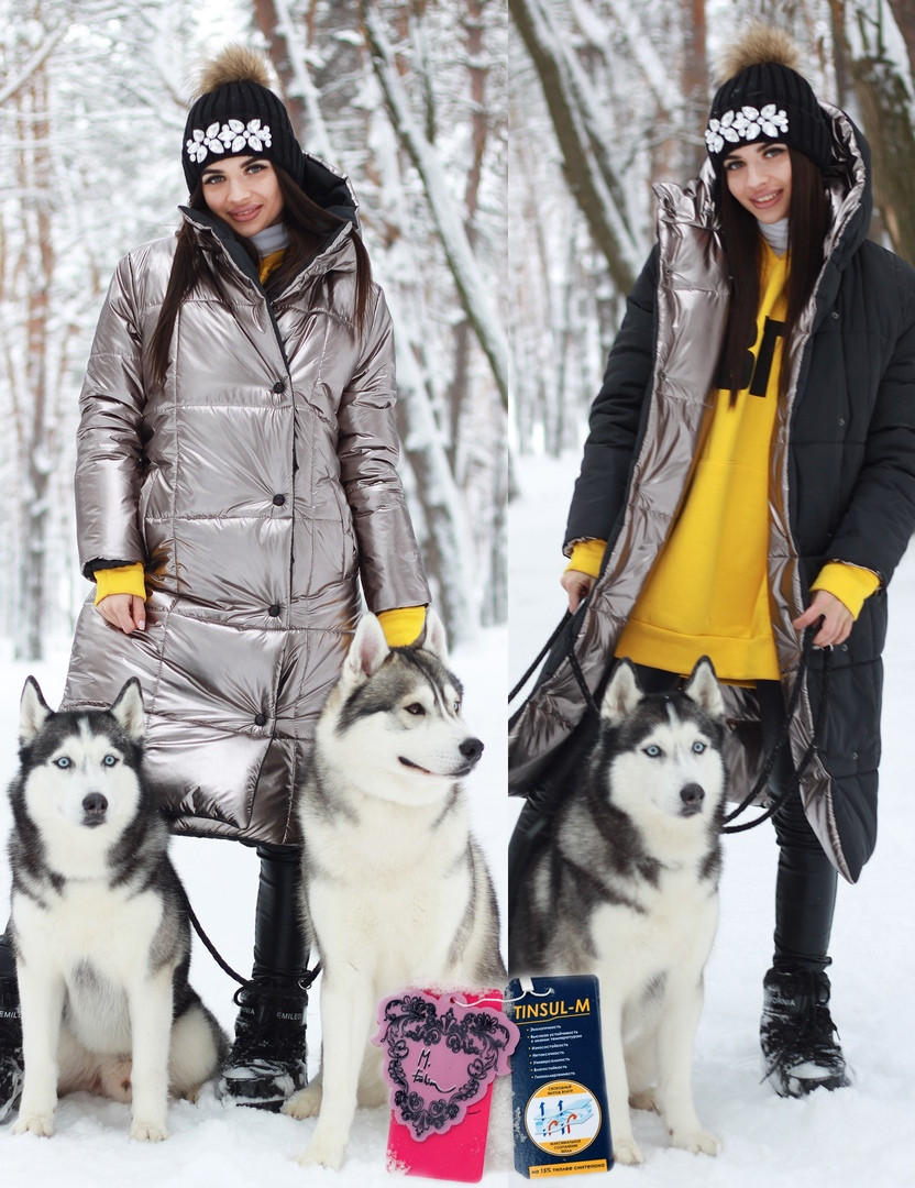 Женское двухстороннее плащевое Женские пальто с капюшоном 71mpa210, фото 1