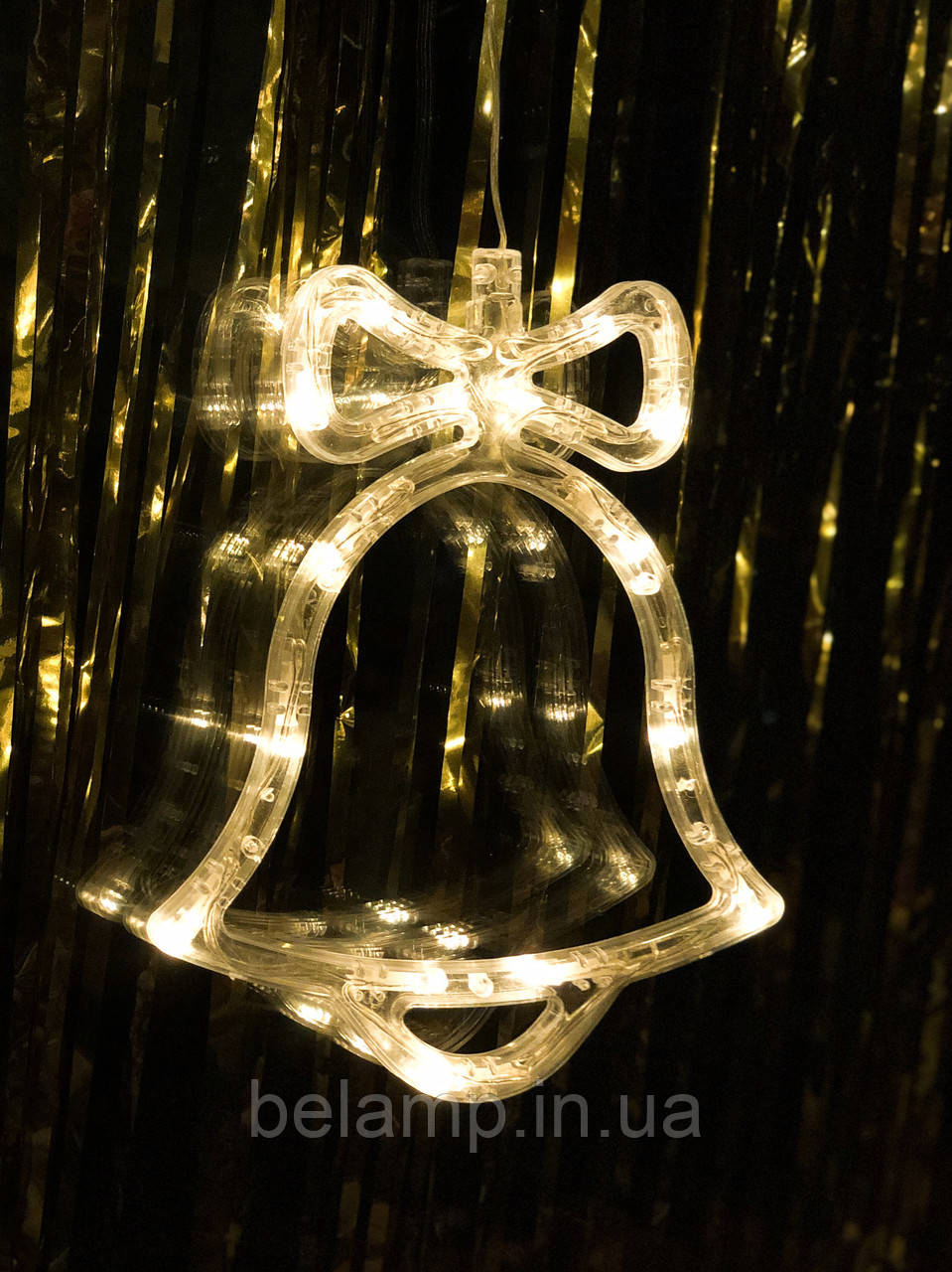 """Новогоднее украшения на окно """"Теплый колокольчик"""". Цена за 1 колокольчик"""
