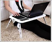 Подставка LD 09 E-TABLE, Столик-подставка для ноутбука, Складной столик для завтраков, Стол с вентилятором юсб