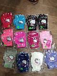 """Перчатки детские одинарные +начес для девочек """"Helloy Kitty"""" 5-7 лет  5017 M цена 45, фото 2"""