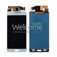 Модуль Samsung SM-A500H Galaxy A5 white с регулируемой подсветкой дисплей экран, сенсор тач скрин Самсунг А5
