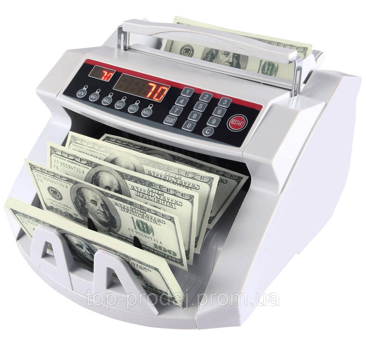 Счетная машинка + детектор валют 2108,  Денежно-счетная машинка, Счетная машинка для купюр, Счетчик валют