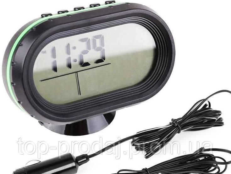 Часы автомобильные VST 7009V, Часы с выносным датчиком, Электронные Часы в авто, Часы в машину с термометром