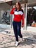Спортивный женский костюм из двухнитки с худи  36msp769