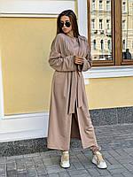 Женский костюм тройка с длинным кардиганом, брюками и кофтой 34mko221, фото 1