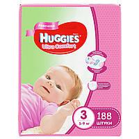 Подгузники Huggies Ultra Comfort для девочек 3 (5-9 кг) Mega Pack 188 шт.