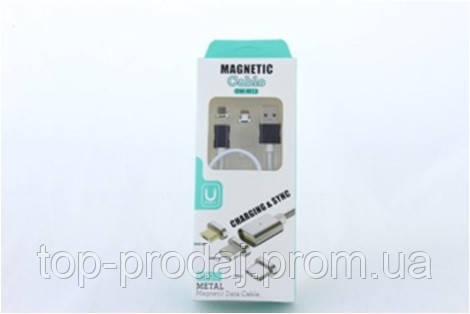 Шнур для мобильного magneti 2in1 micro\lightning\ магнитный, Зарядка  для мобильного, usb провод магнитный