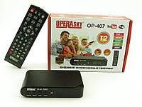 TV тюнер Т2 приемник для цифрового ТВ Operasky  OP-407, Ресивер, Внешний тюнер USB HDMI, Приставка к ТВ, фото 1