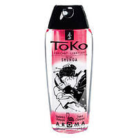 Лубрикант съедобный на водной основе Shunga Toko AROMA - Игристой Клубничное Вино (165 мл) для орального и вагинального секса (Шунга, Сюнга)