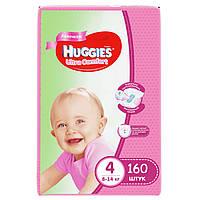 Подгузники Huggies Ultra Comfort для девочек 4 (7-16 кг) Mega Pack 160 шт.