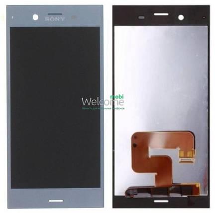Модуль Sony G8341 Xperia XZ1/G8342 Xperia XZ1 Dual blue дисплей экран, сенсор тач скрин Сони Иксперия, фото 2