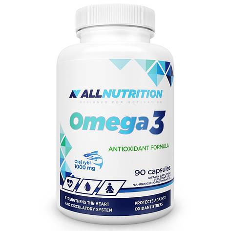 Омега 3 в капсулах AllNutrition Omega-3 90 softgels, фото 2