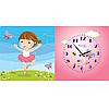 Часы +картина  на холсте Балерина