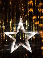 "Новогодние украшение на окно ""Белая звезда"". Цена за 1 звезду, фото 1"