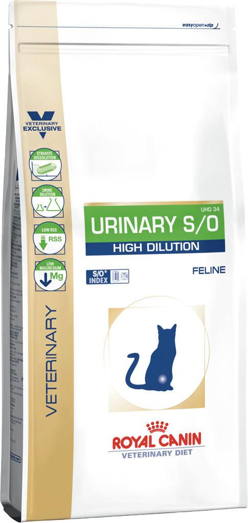 Сухой корм для кошек с мочекаменной болезнью Royal Canin Urinary S/O High Delution 1,5 кг