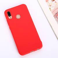 Защитный силиконовый чехол Huawei Y6 2019, 6.09 дюйма красный