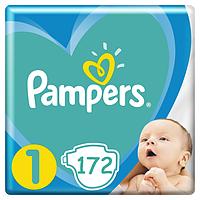 Подгузники детские Pampers New Baby Dry 1 (2-5 кг) Mega Pack 172 шт., фото 1