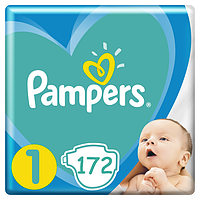 Подгузники Pampers New Baby Dry 1 (2-5 кг) Mega Pack 172 шт.