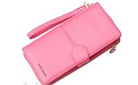 Кошелек Baellerry N3846 PINK, Женский кошелек с отделом для телефона, Клатч женский, Кошелек для девушки