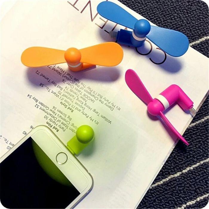 Мини OTG вентилятор для Iphone. Салатовый