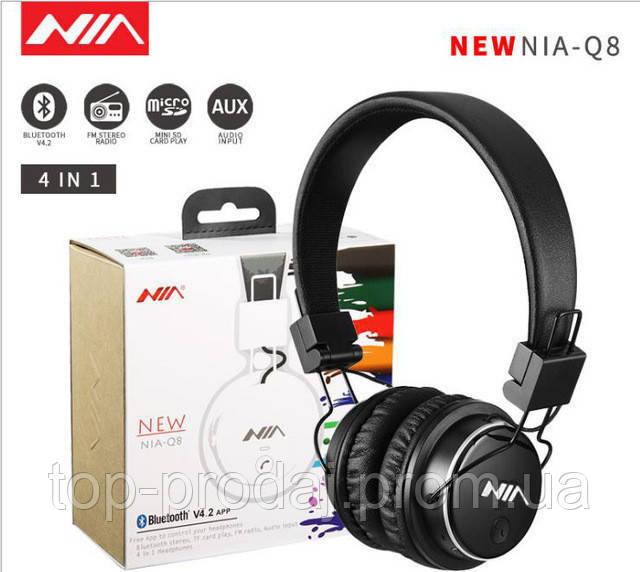 Наушники MDR NIA Q8 + BT + APP, Стерео наушники, Bluetooth наушники, Беспроводные наушники с мп3 плеером