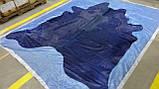 Синяя коровья шкура на пол, экзотические шкуры коров хай тек, фото 4