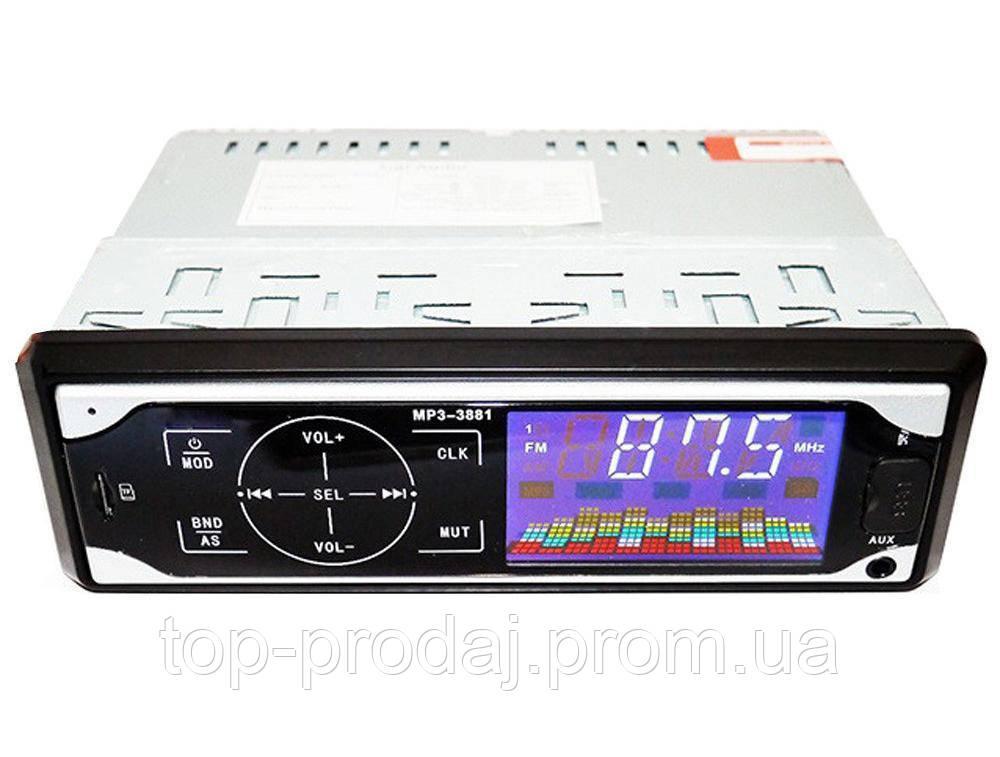 Автомагнитола MP3 3881 ISO 1DIN сенсорный дисплей, Магнитола в машину, Автомагнитола  со сьемной панелью