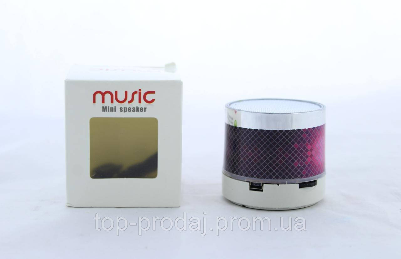 Мобильная Колонка SPS S10+BT LED, Компактная колонка блютуз, Динамик с подсветкой, Переносная колонка