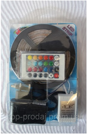 Led Strip  2835 RGB Complect, Светодиодная лента, Многоцветная гибкая светодиодная лента с ду, контроллером