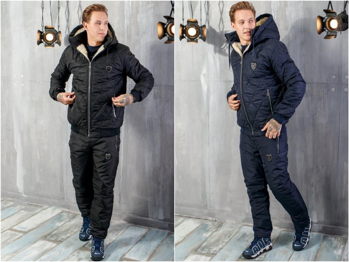 Теплый мужской костюм мод.1079