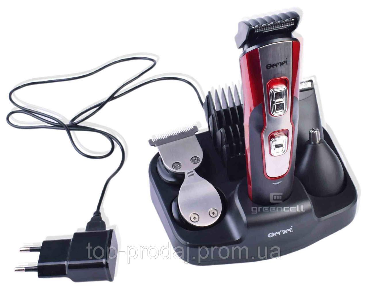 Машинка для стрижки с насадками  GM 592,Аккумуляторная машинка для стрижки, Триммер для стрижки волос и бороды