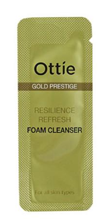 Увлажняющая пенка Ottie Gold Prestige Resilience Refreshing Foam Cleanser Пробник 1 мл