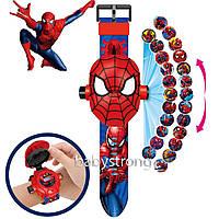 Проекційні дитячі годинники Людина Павук - 24 види зображення героїв .Projector Watch. Відмінний Подарунок !