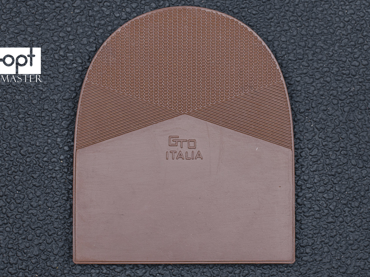 Набойка резиновая мужская GTO Italia (Китай), т. 6.6 мм, р.13-14, цв. тропик (св. коричн)