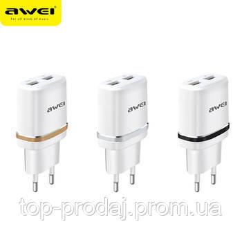 Адаптер Awei C930, Сетевой адаптер, Сетевое зарядное устройство, Универсальный адаптер питания, USB адаптер