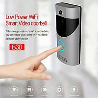 Домофон SMART DOORBELL wifi B30 1080p, Беспроводной дверной домофон, Видеодомофон, Домофон с камерой, фото 1