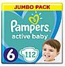 Підгузники дитячі Pampers Active Baby 6 (13-18 кг) Jumbo Pack 112 шт