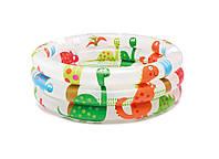 """Бассейн детский 57106 Динозаврик"""" с надувным дном 61*22см, Бассейн летний для малышей, Круглый бассейн"""