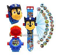 Проекційні дитячі годинники Щенячий Патруль Гонщик - 24 види зображення героїв .Projector Watch. На Подарунок !