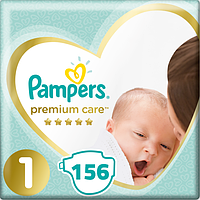 Подгузники Pampers Premium Care New Born 1(2-5 кг) Mega Pack 156 шт.